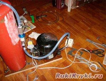 Самодельный компрессор из огнетушителя