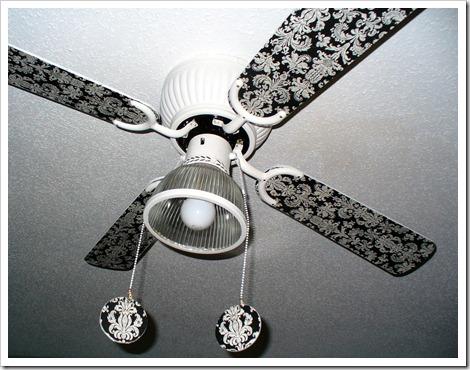 Декорирование потолочного вентилятора своими руками