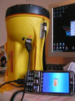 USB в фонарике