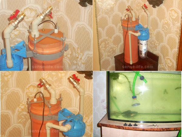 Внешний фильтр для аквариума своими руками