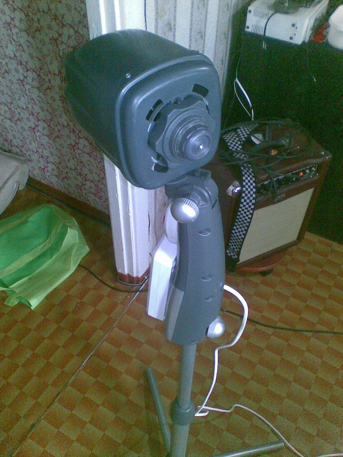 Торшер из вентилятора
