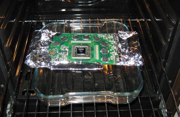 Реанимация видеокарты в духовке