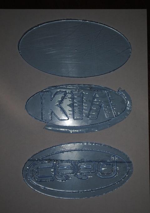 LED подсветка значка KIA