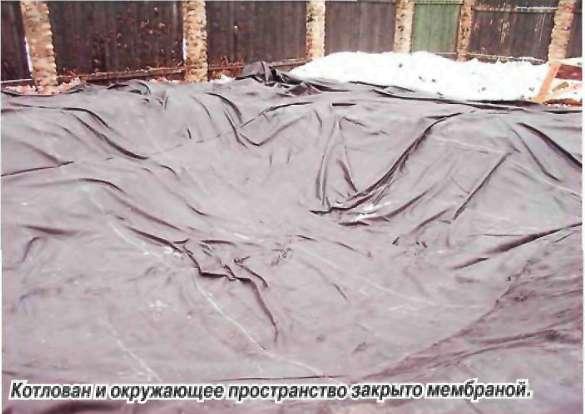 Пруд своими руками в зимнее время