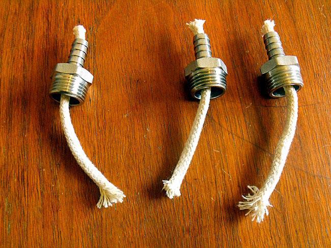 Масляная лампа из труб