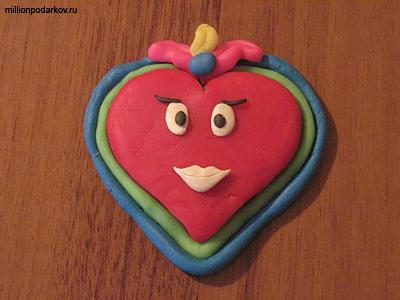 Сердце из соленого теста