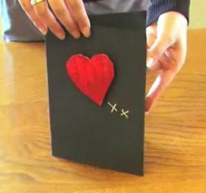 Открытка с сердцем на день святого Валентина