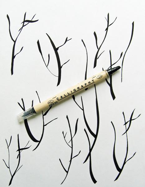 Квиллинг открытка — Вишня цветет