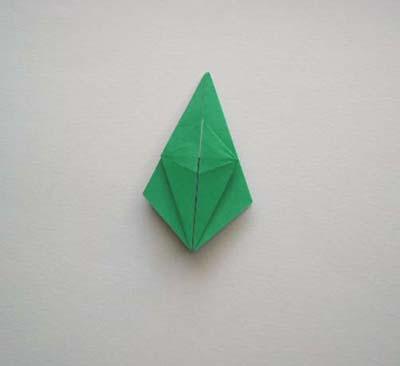 Лягушка оригами