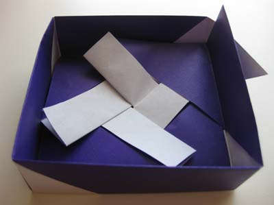 Модульное оригами Квадратная шкатулка