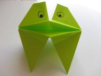 Оригами Говорящая лягушка