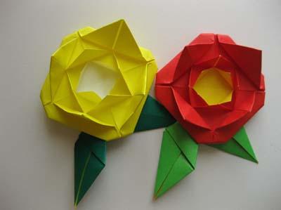 Оригами Поднимающаяся роза