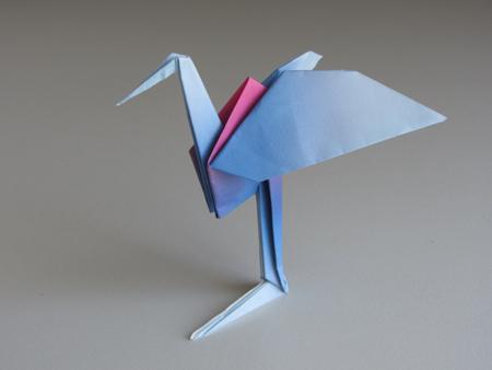 Оригами Цапля