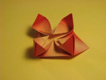 Оригами Цветок лотоса, сложной конструкции