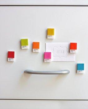 Магниты на холодильник из цветового справочника