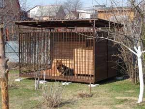 Как самостоятельно построить вольер для собаки