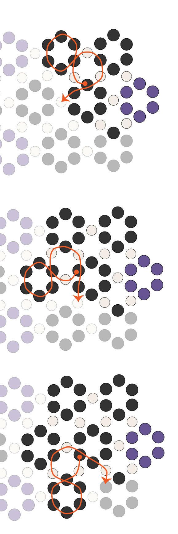 Браслет из шестиугольников