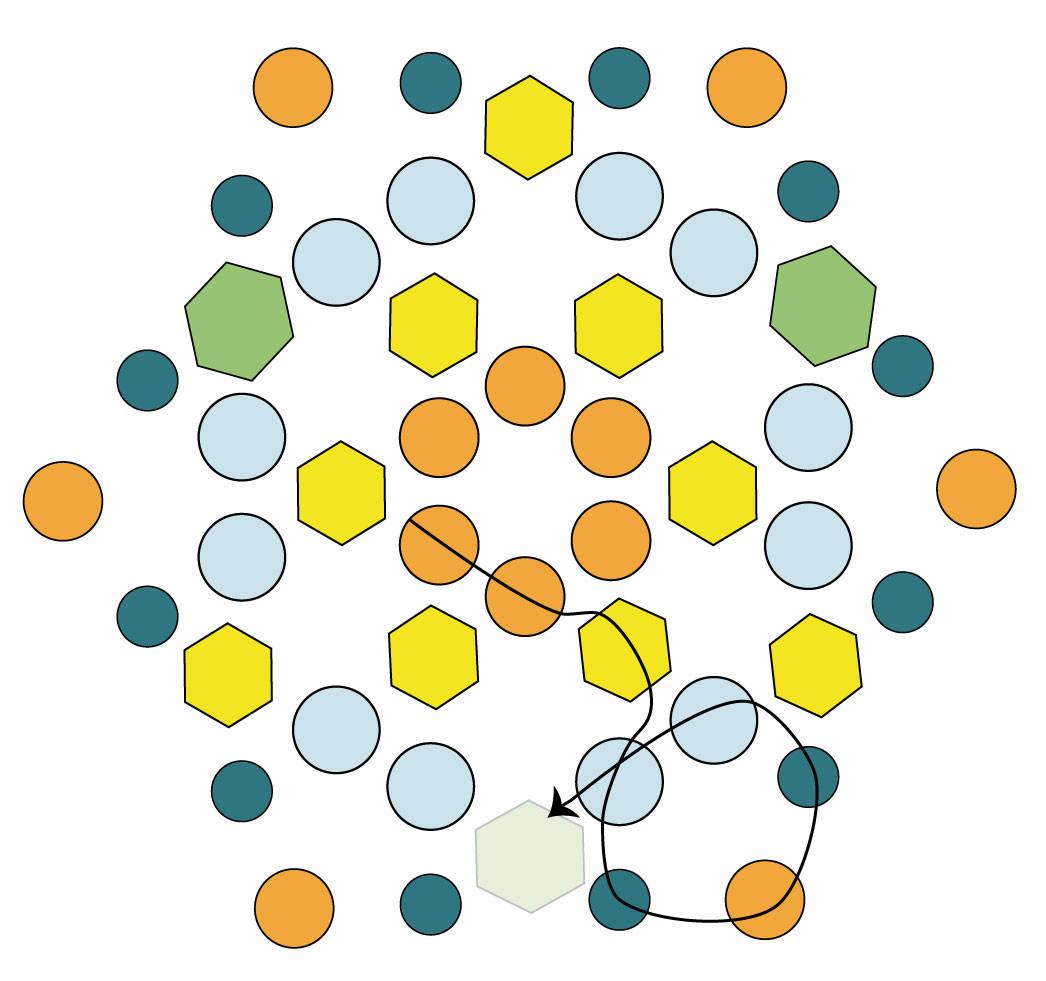 Серьги из бисера в виде шестиугольника
