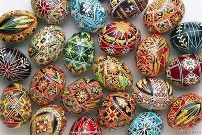 Венгерский метод оформления пасхальных яиц