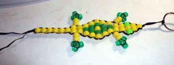 Ящерица из бисера