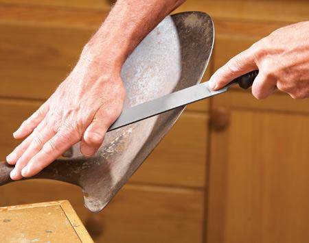 Как наточить лопату