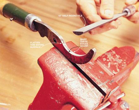 Как заточить садовые инструменты
