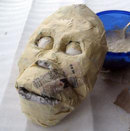 Как сделать из папье маше маску обезьяны