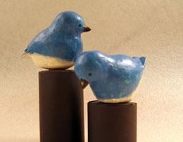 Синяя птица – папье маше своими руками