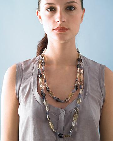 Ожерелье из полудрагоценных камней