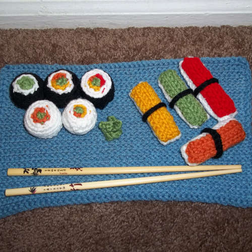 Вязаные крючком: суши