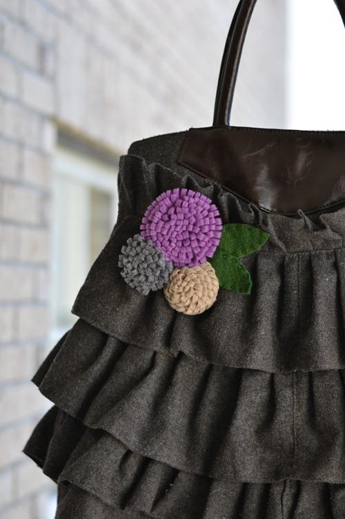 Как сделать цветок из войлока