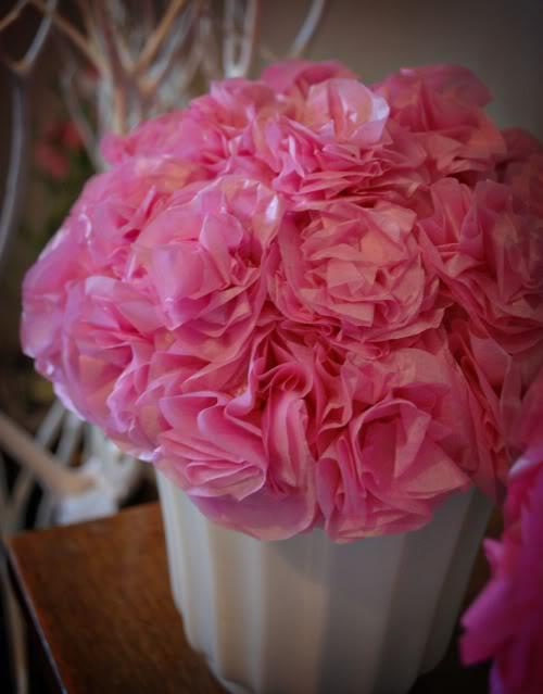 Букет из бумажных цветов
