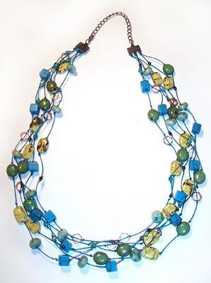Бусы из бисера: Морское ожерелье