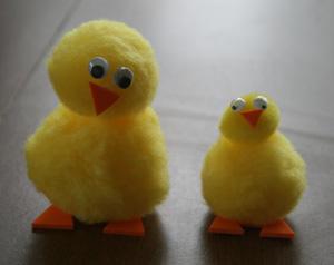 Детская аппликация из ткани: цыпленок