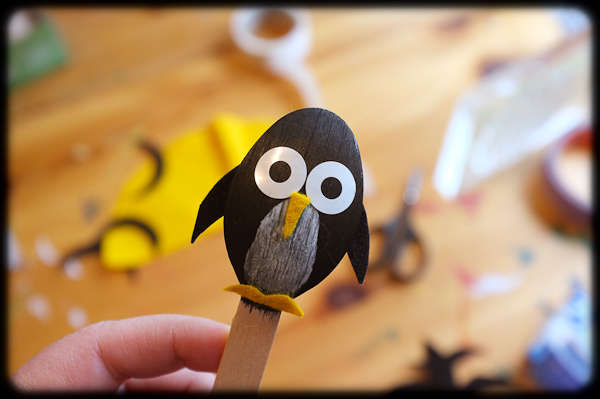 Детские поделки своими руками: пингвины на палочке