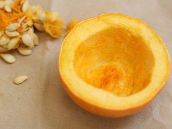 Свечи из тыквы и лимона