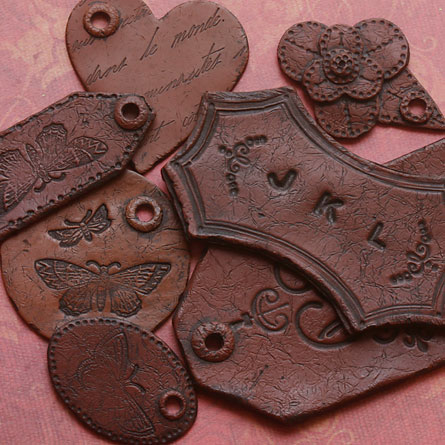 Поделки из глины, имитированные под кожу