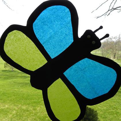 Яркая бабочка для детей