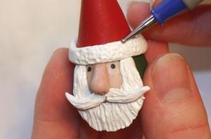 Как сделать Деда Мороза из глины
