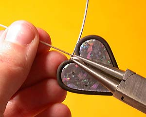 Голографические серьги из полимерной глины