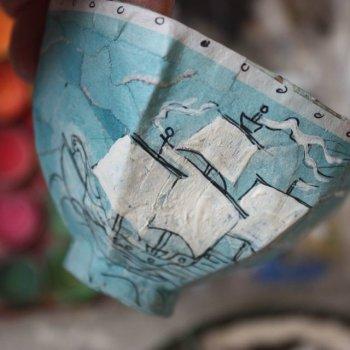 Чашка из папье-маше