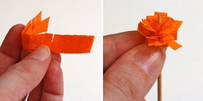 Цветы из бумаги для подарочной упаковки