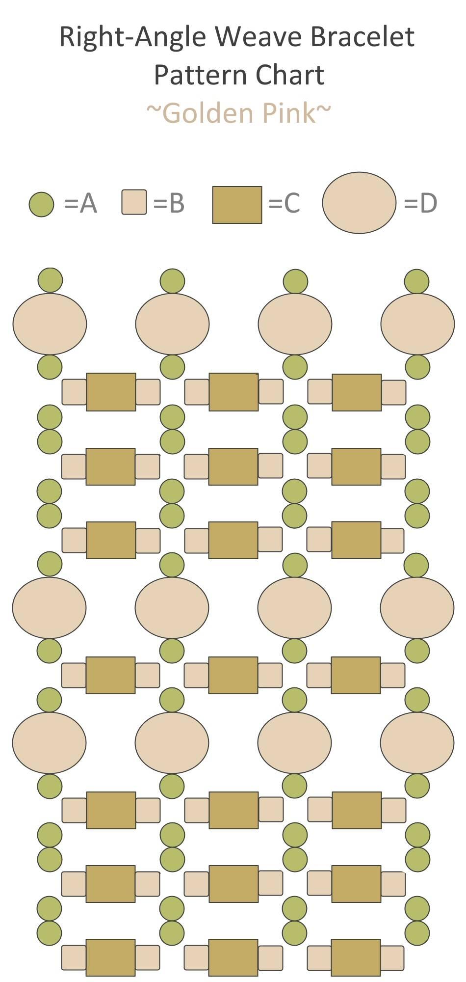 Схема бисероплетения браслета