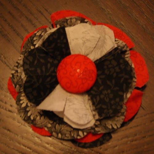 Тканевый цветок на ободок для волос своими руками