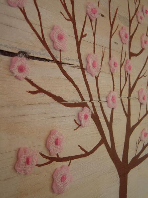 Аппликация «Яблоня» для декорирования дома