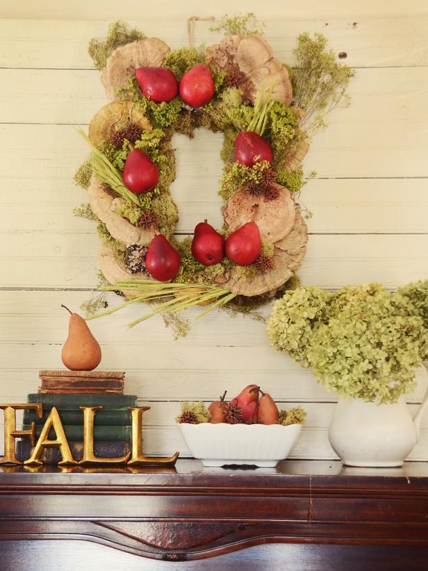 Осенний венок для декора дома