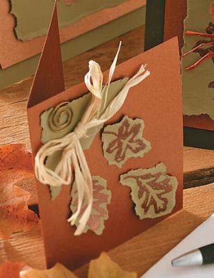 Осенняя поздравительная открытка своими руками