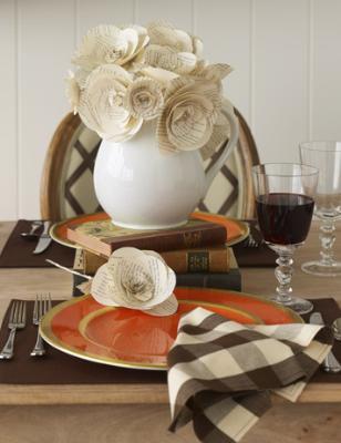 Бумажные цветы для декора кухни