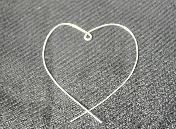 Cережки в виде сердца своими руками