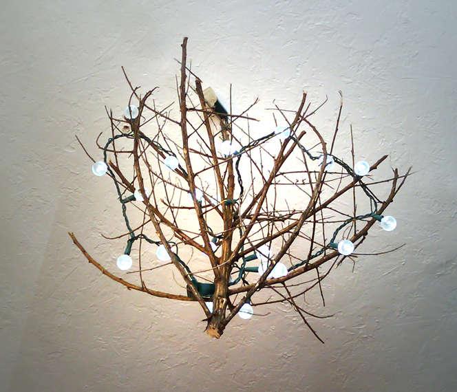 Необычный осенний светильник своими руками